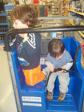 Photo: The lucky cart - no working seatbelts - ugh.  This trip would have been much more pleasant with child restraints.