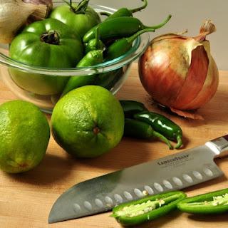 Green Tomato Jalapeno Salsa.