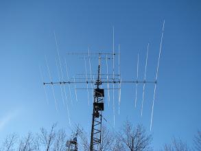 Photo: 10/15/20m triband yagi and V/UHF FM vertical yagis @ 45'