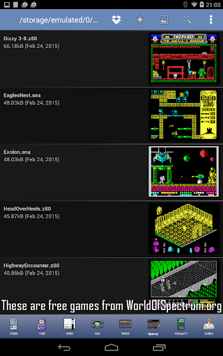 Speccy - Free Sinclair ZX Spectrum Emulator apktram screenshots 18