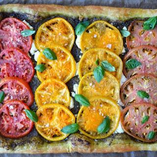 Heirloom Tomato and Goat Cheese Tart.