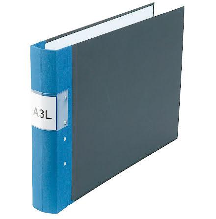 Träryggspärm A3L blå