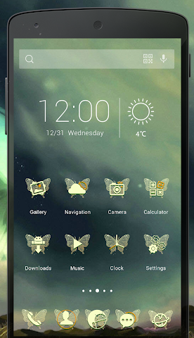 android Wings Of Dreams-Solo Theme Screenshot 1