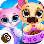 Download Kiki & Fifi Pet Friends - Furry Kitty & Puppy Care apk