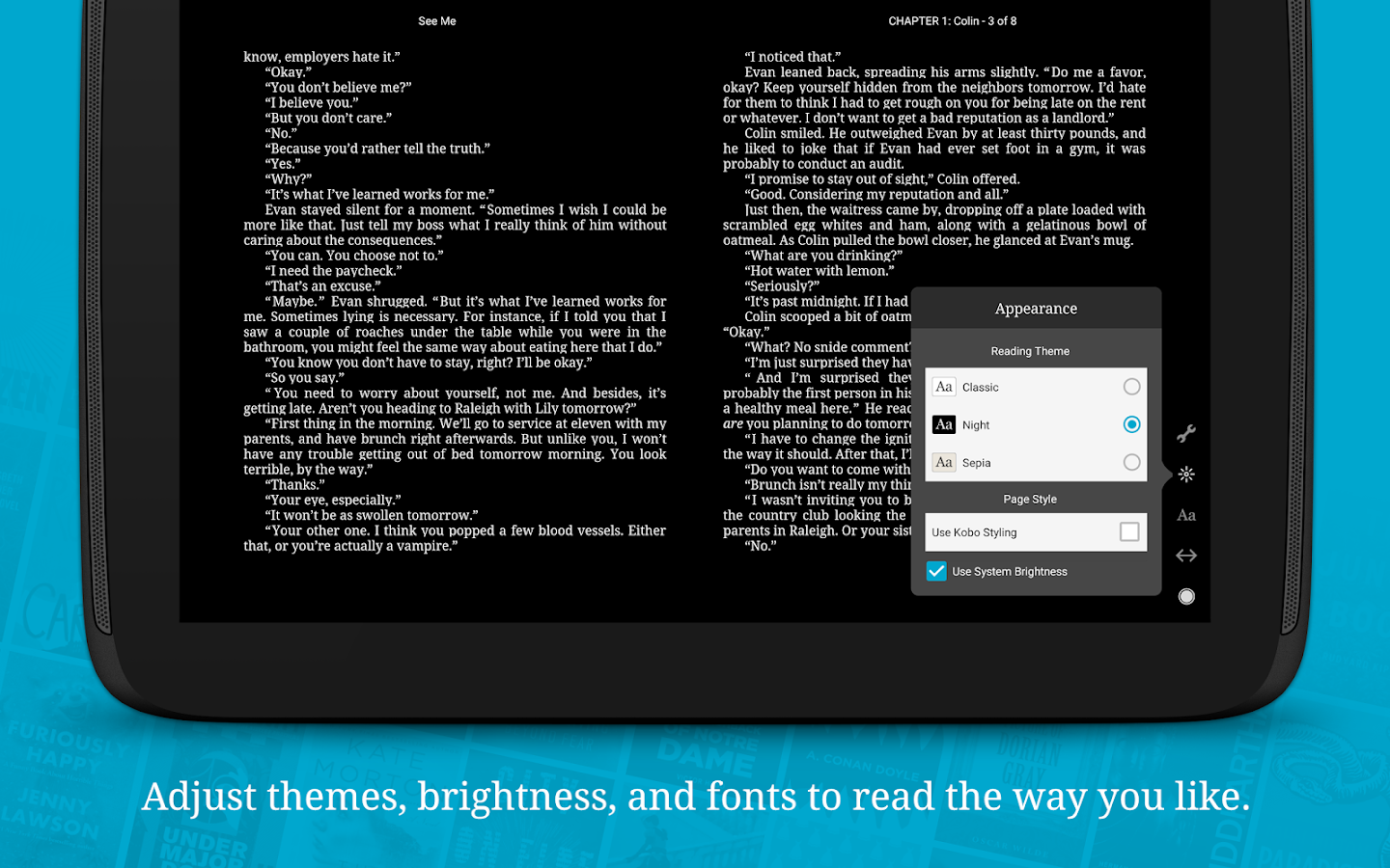 Screenshots of Kobo Books for iPhone