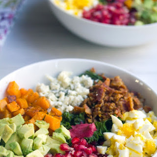Fall Cobb Salad with Cranberry Dressing