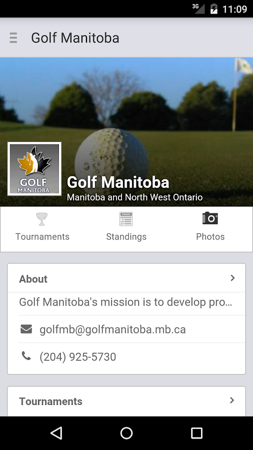 Golf Manitoba- screenshot