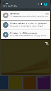 Notes widget - náhled