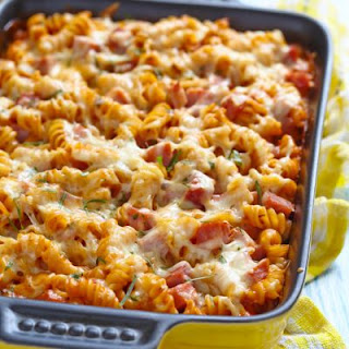 Tomato, Ham, and Cheese Casserole
