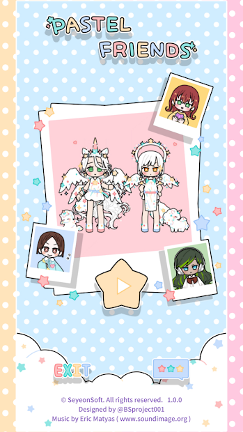 Pastel Friends : Dress Up Game Android App Screenshot