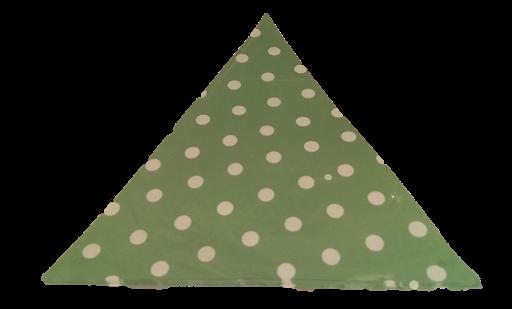 banderines verde circulos para decorar