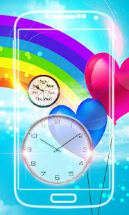Rainbow Clock Live Wallpaper - náhled