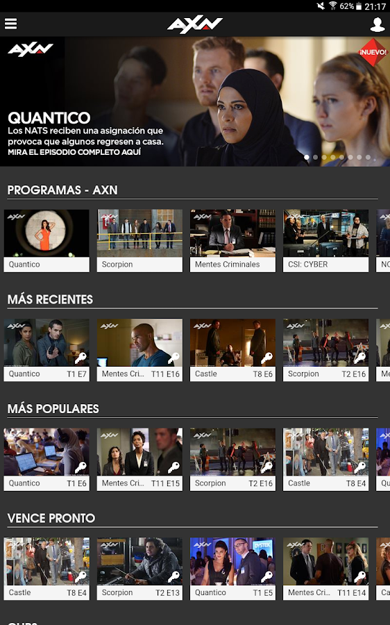 AXN- screenshot