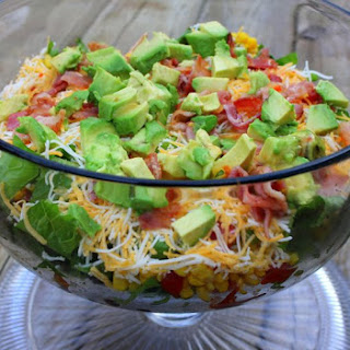 Southwestern Layered Salad.