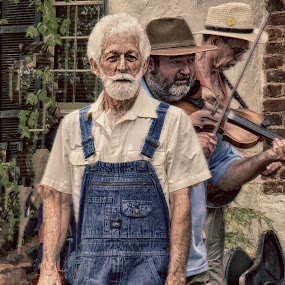 Bluegrass Style by Alycia Marshall-Steen - People Musicians & Entertainers ( clogger, dahlonega, georgia, festival, overalls, bluegrass, man, country,  )