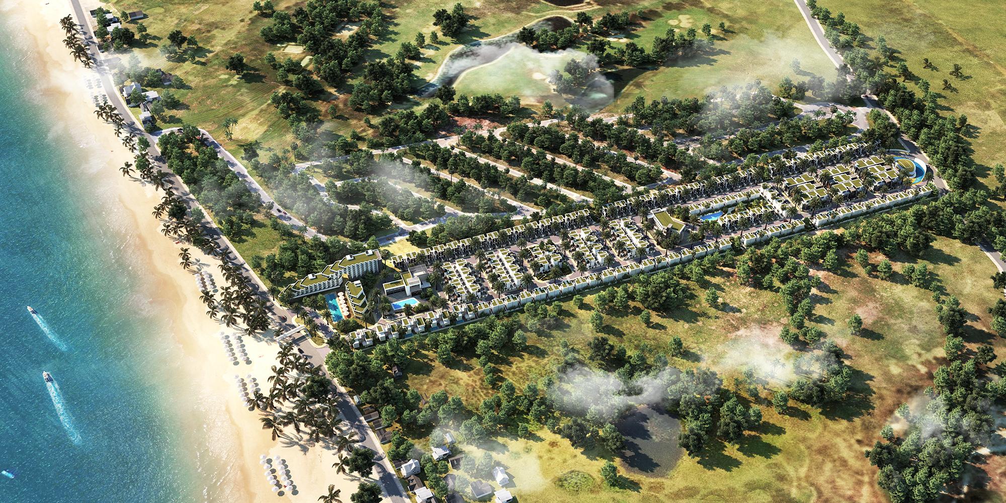 Hình ảnh phối cảnh tổng thể dự án Goldsand Hill Villa - Mũi Né, Phan Thiết.