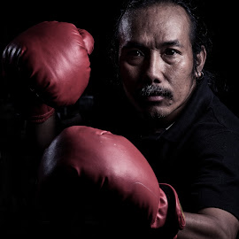 by Eko Probo D Warpani - Sports & Fitness Boxing ( strobist, old man, boxing, men, man,  )