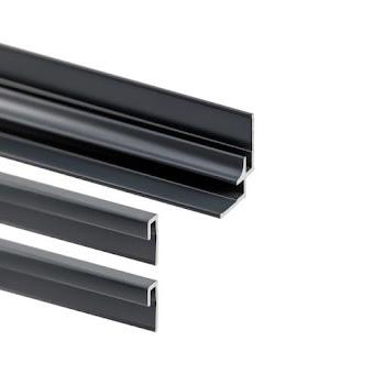 Lot : 2 profilés de finition + 1 profilé d'angle pour panneaux muraux Decodesign, anthracite