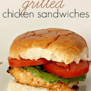 Marinated Grilled Chicken Sandwich.
