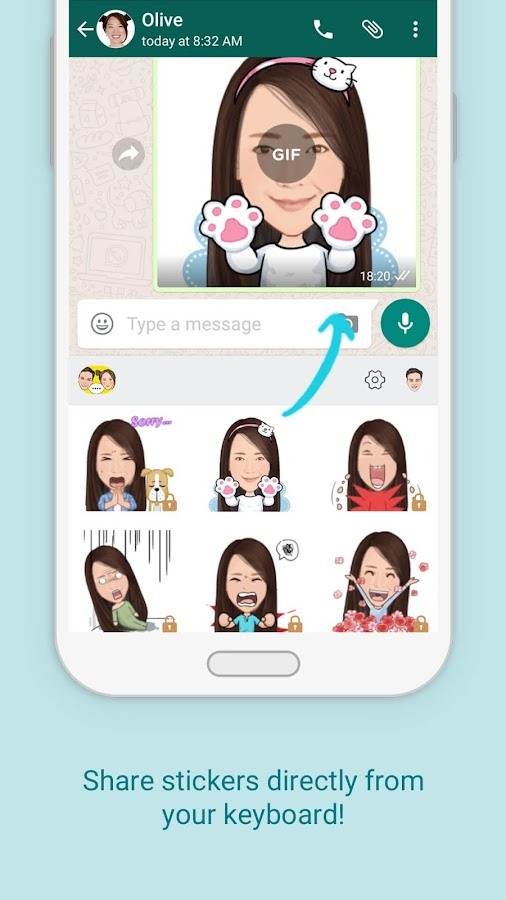 AiMee - GIF Sticker Keyboard- screenshot