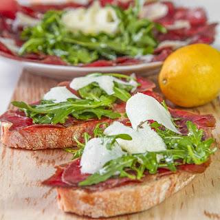 ITALIAN BRESAOLA with Arugula and Parmigiano Reggiano Recipe
