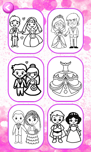 Glitter Wedding Coloring Book - Kids Drawing Pages screenshot 2