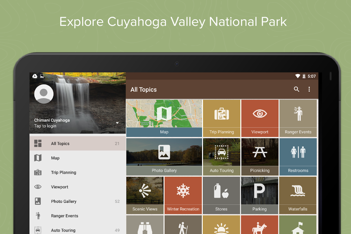 Chimani Cuyahoga Valley NP- screenshot