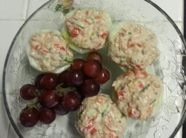 Tuna Stuffed Cucumber Buttons Recipe