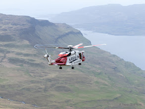 Photo: HM Coastguard Sikorsky S-92A Search and Rescue Helicopter at Ben More, Mull