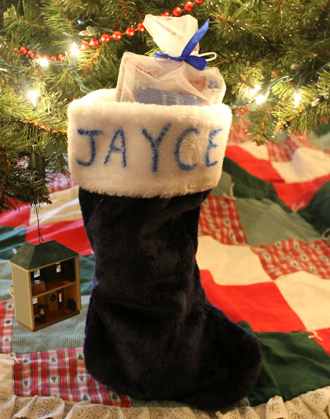 Personalized Baby's First Christmas stocking