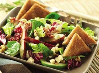 Bacon And Fruity Salad With Cinnamon Toast Recipe