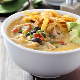 Cheesy Slow Cooker Chicken Fajita Soup.