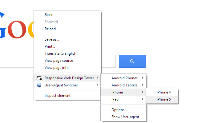 Responsive Web Design Tester Screenshot