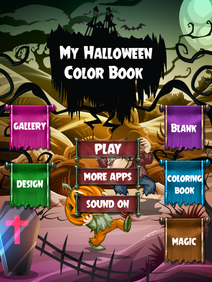 My Halloween Coloring BookColoring Game Screenshot