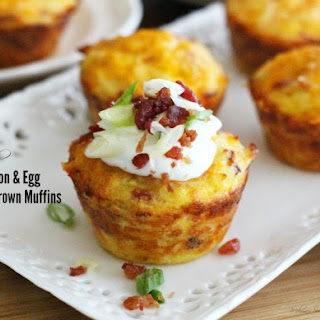 Loaded Bacon And Egg Hash Brown Muffins.