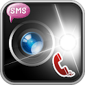 Alert call & sms - flashlight icon