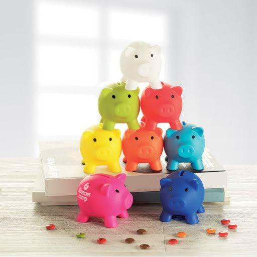 PVC Piggy Bank in 8 Colours