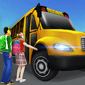 Super High School Bus Driving Simulator 3D - 2018 Icon