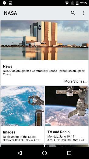 Screenshot 0 for NASA.gov's Android app'