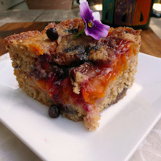 Fresh Blueberry Apricot Coffee Cake.