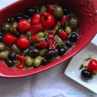 Baked Olives and Peppers