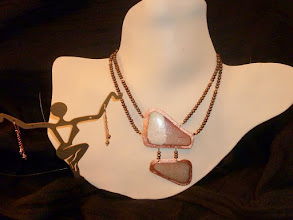Photo: <BEREHYNYA> {Great Goddess Protectress} unique one-of-a-kind statement jewellery by Luba Bilash ART & ADORNMENT  SANDS OF TIME – ПІСКИ ЧАСУ - 2 copper enamel pendants, FW pearls, rose gold vermeil SOLD/ПРОДАНИЙ  http://www.wikihow.com/Clean-A-Pearl-Necklace