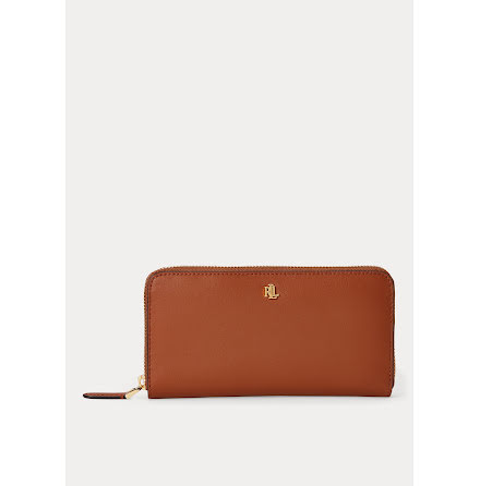 Dryden: Continental Zip Wallet: Large, tan/orange
