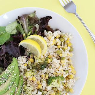 Healthy Broccoli Corn Rice.