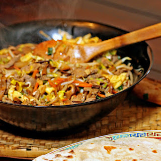 Moo Shu Pork with Homemade Pancakes.