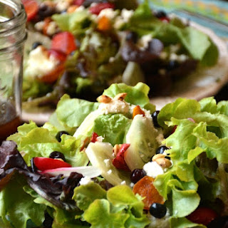 Summer Salad with Toasted Wild Plum Pit Nuts
