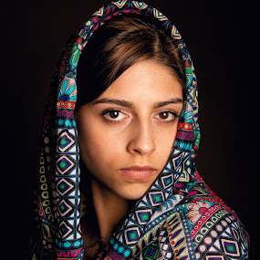 Cara by Phil Portus - People Portraits of Women ( face, female, women, eyes, headscarfe, people, pwc faces )
