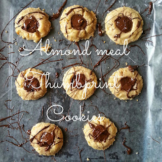 Almond Meal Thumbprint Cookies.