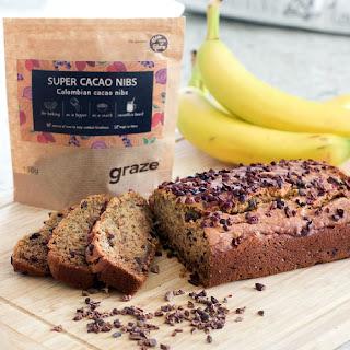 Cacao Nib Banana Bread.