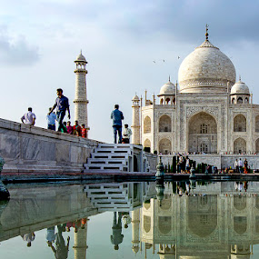 Taj Mahal by Amit Aggarwal - Buildings & Architecture Public & Historical ( reflection, wonder, taj mahal, agra, monument, india, up )